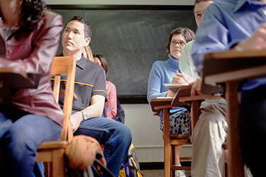 Photo of students seated at desks