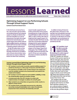Lessons Learned Volume 2, Issue 1 Cover