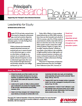 Principal's Research Review, March 2012 Cover