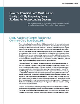 Equity Assistance Center CCSS Cover