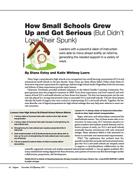 How Small Schools Grew Up and Got Serious cover