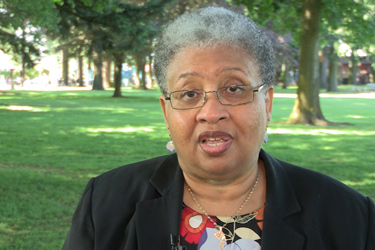 Still from the Joyce Harris interview video