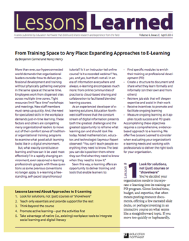 Lessons Learned document cover