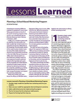 Lessons Learned Volume 1, Issue 4 Cover