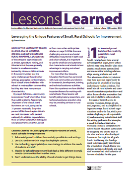 Lessons Learned Volume 1, Issue 5 Cover