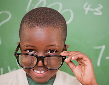 Photo of student with glasses