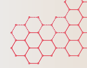 Image of a honeycomb style network matrix
