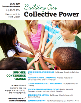 2014 OEA Summer Leadership Conference Flyer cover