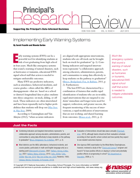 Principal's Research Review, July 2013 cover