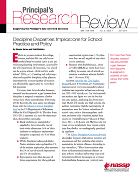 Principal's Research Review, July 2014 cover