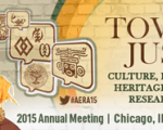 AERA banner graphic showing date and location