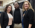 Photo of Claudia Rodriguez-Mojica, Moses Wambalaba, and Debbie Ellis