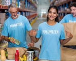 Photo of food bank volunteers