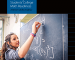 Cover of Improving College Math Readiness PDF