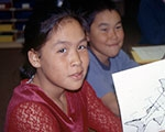 Alaska Native students in a classroom