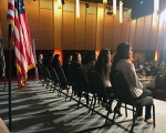 DACA student panelists speaking at the OLN institute