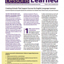 Lessons Learned Volume 1, Issue 2 Cover