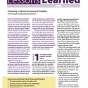 Lessons Learned Volume 1, Issue 3 Cover