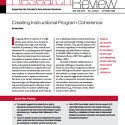 Principal's Research Review, Jan 2010 Cover