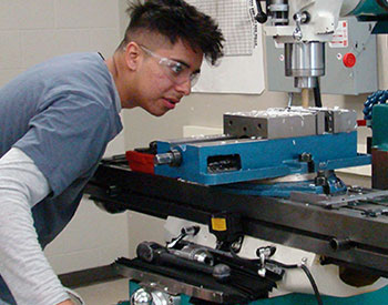 West Valley student machinist photo